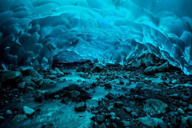 Mendenhall Glacier, Juneau, Aljaška